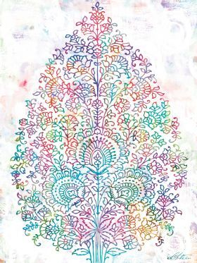I know this isn't a tattoo but it sure would be pretty as one! --- Paisley Tree - Urban Road print