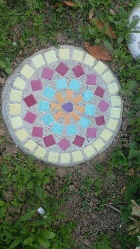 kuhles deko trittstein garten welcome gefaßt Bild und Efeabedaffefada Stone Mosaic Stepping Stones Jpg