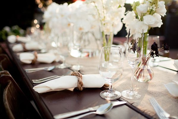 pretty, neutral table setting