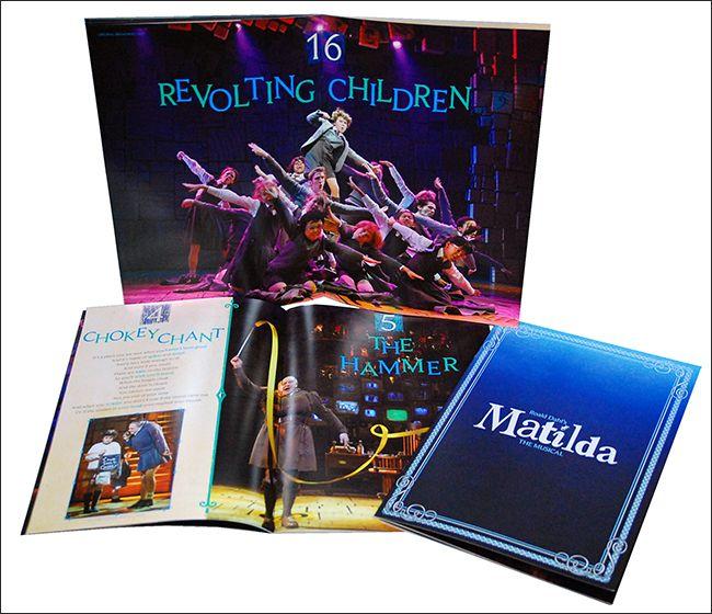 Matilda The Broadway Musical Souvenir Program Musicals Matilda Broadway