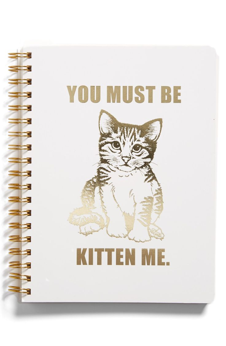 This adorable yet sassy spiral notebook with gold foil is perfect for writing down notes.