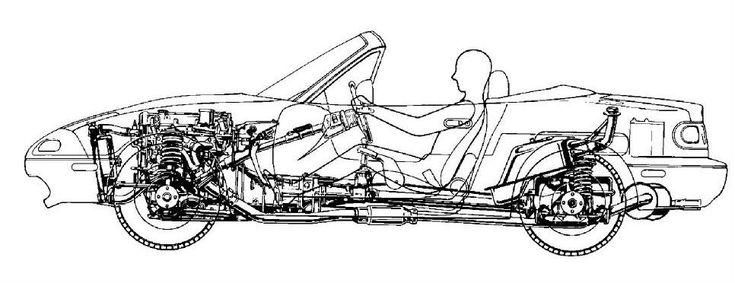 Miata suspension cutaways