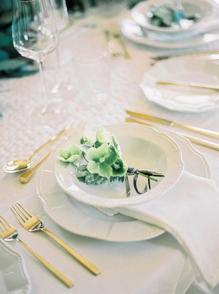 Floral Boutonnieres | Lily & Sage | Luxury Wedding Planning & Styling | Photography - Katie Julia | Flowers - Westwood Design | Cutlery -Vintage Gold China.