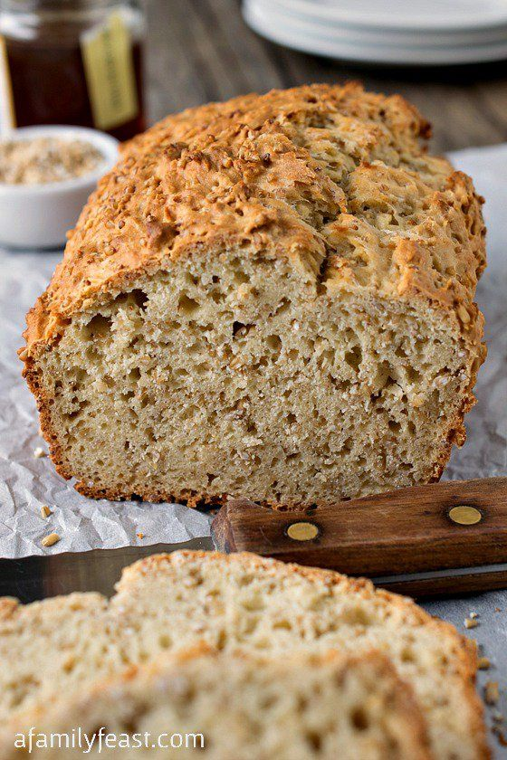 Steel Cut Oatmeal Honey Bread - A wonderful hearty, savory bread with a chewy texture.  Very easy to make!