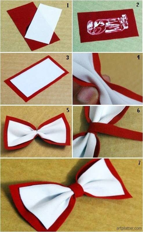 Easy Bow Tie Would Be Great To Do Blue And Pink For A Bow