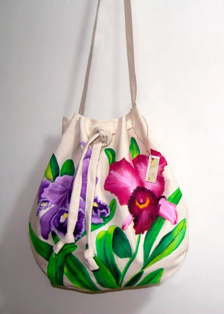 bolsos de lona pintados a mano - Buscar con Google