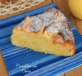 Alcuni giorni fà ho preparato questa torta di mele strepitosa, la sua bontà è data dalla grande quantità di mele che la rende cosi morbidosa! nel mio blog .