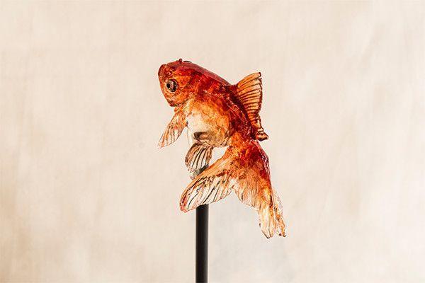 販売・展示作品   浅草 飴細工アメシン  #Asakusa #Amezaiku Ameshin日本傳統糖果工藝飴細工-金魚棒棒糖 #CandySculpture