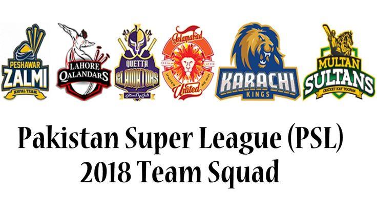 PSL 2018 Team Squad & Players Details