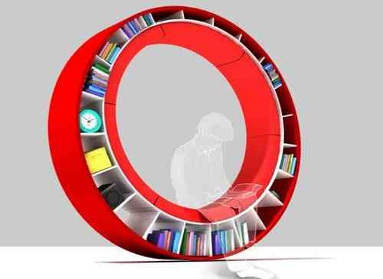 The Circular Bookshelf There Are Lots Of Unusual Bookshelf Designs But No  Other One Where You Can