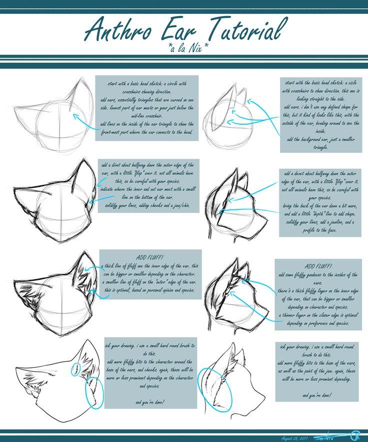 Anthro Ear Tutorial by Nix -- Fur Affinity [dot] net