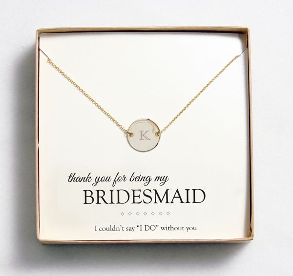 Bridesmaid Gift Idea: Customizable Jewelry from Wedding Outlet