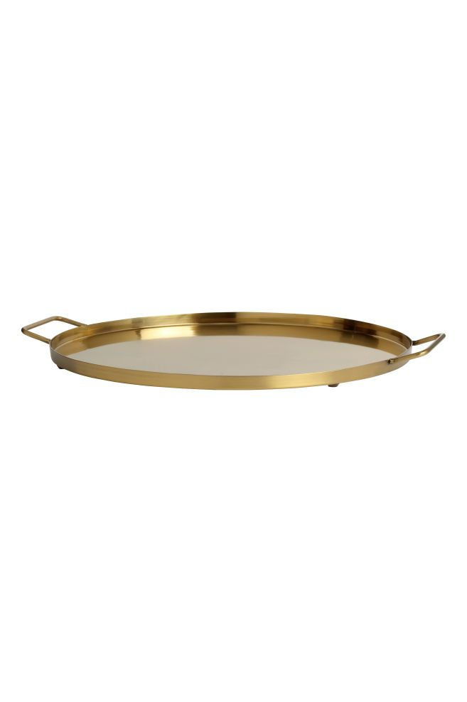 Large Metal Tray Gold Colored Home All H M Us Metal Trays Gold Tray Decor Gold Tray