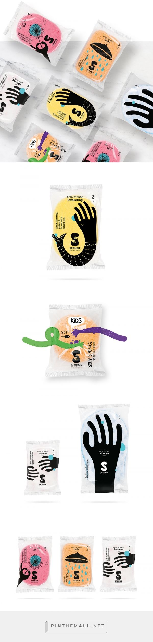 Body sponge packaging | Designed by Luminous Design Group