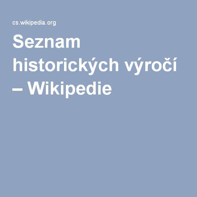 Seznam historických výročí – Wikipedie