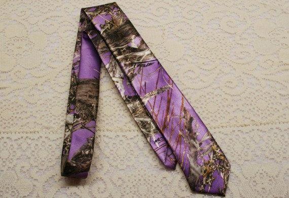 Tie Camo Wedding Purple Camo Camo Mens Tie By IDoDoodads