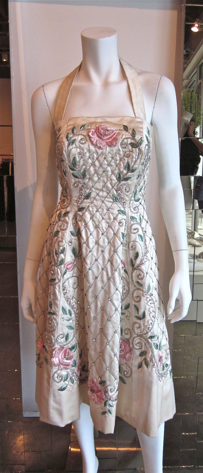 ... <b>vintage</b> condition. Completely hand-made, this <b>dress</b> is a supreme