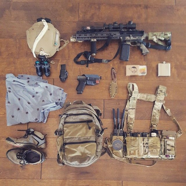 Cover. Most will notice the weapons, but what are you carrying to render aid?…