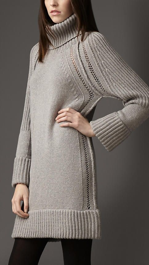 Burberry Silk Cashmere Multistitch Tunic | Burberry