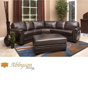 "Santa Monica 2 piece Top Grain Leather Sectional and Ottoman from Costco 2499 103"" W x 103"" D"