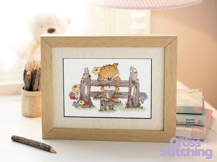 Woodland Folk A Warm Welcome  The World of Cross Stitching  Issue 217 July 2014 Hardcopy in Folder