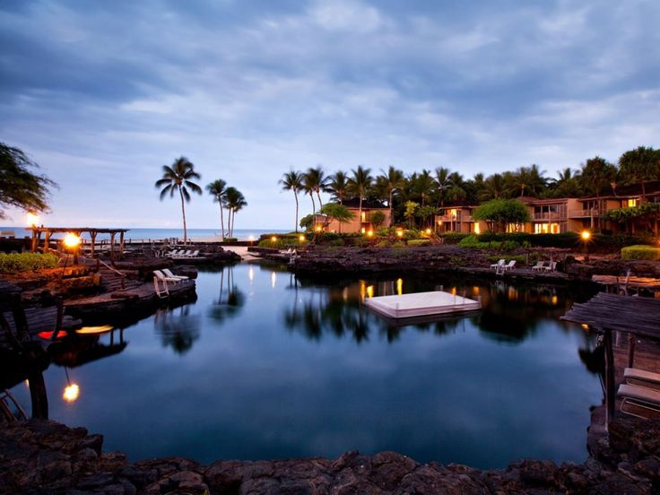 The King's Pond, at the Four Seasons Resort Hualalai in Kailua-Kona, Hawaii, is an ocean-water pool carved out of natural lava rocks where you'll find 1.8 million gallons of water, manta rays, and over 3,000 tropical fish.