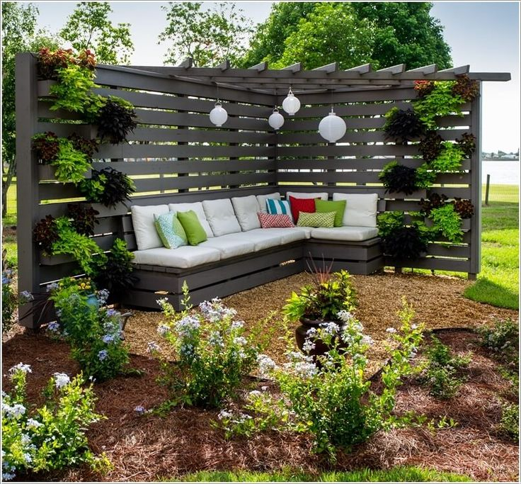Everyone wants a cozy corner in the garden where the whole family can relax  in privacy