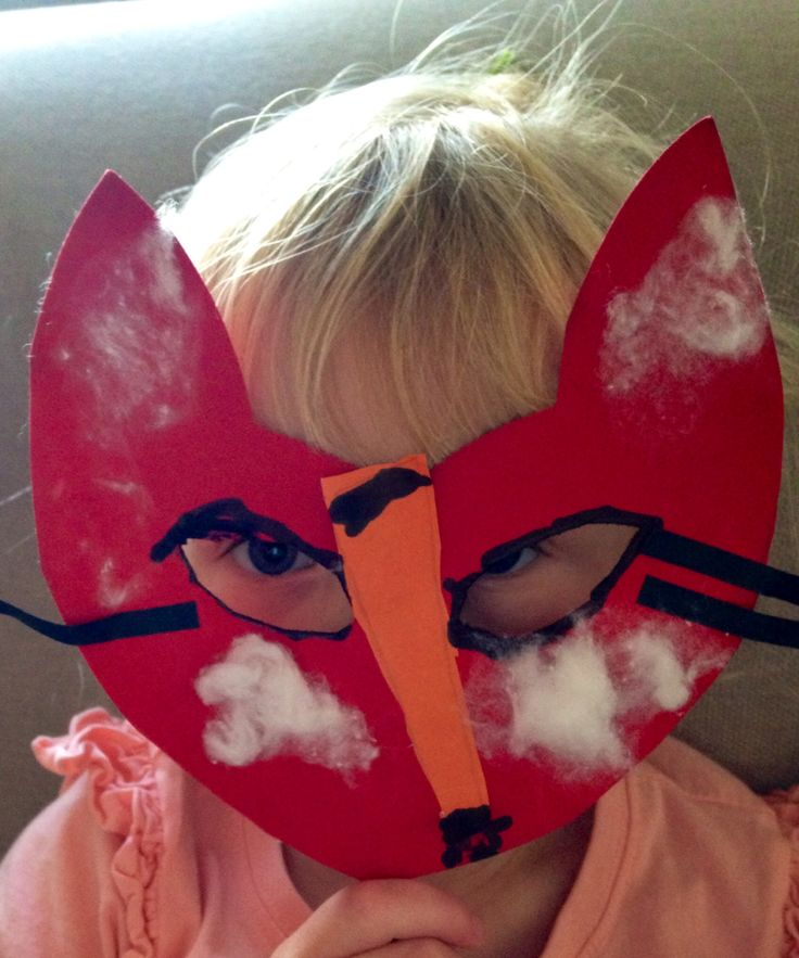 Hattie & the Fox - mask  Gluing, tracing, sticking, cutting and drawing