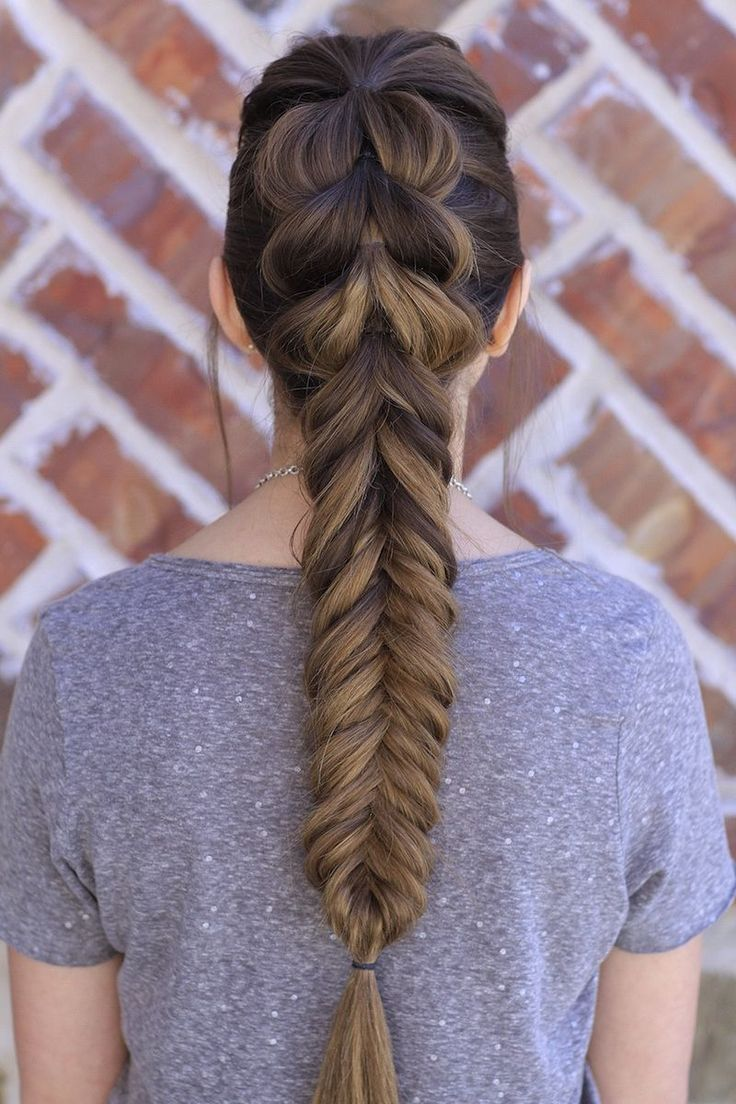 37 Beautiful Fishtail Braid Hairstyles You Should Try   Hair styles, Long hair styles, Fishtail ...
