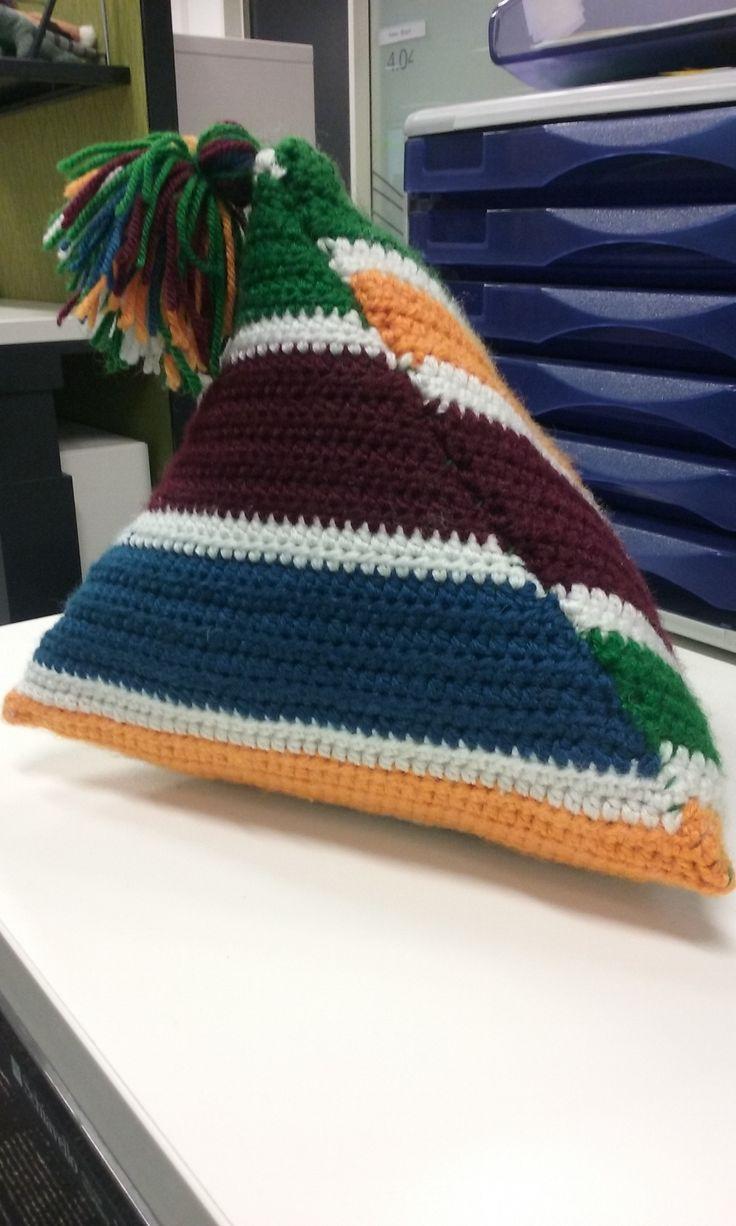 Crochet Triangle Retro Pillow