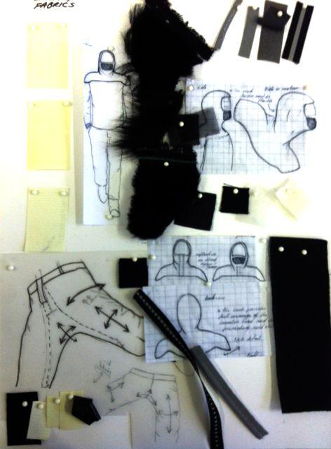 Fashion Sketchbook - active sportswear fashion design development with fashion sketches  fabric swatches; fashion portfolio // Annette Mazinyi