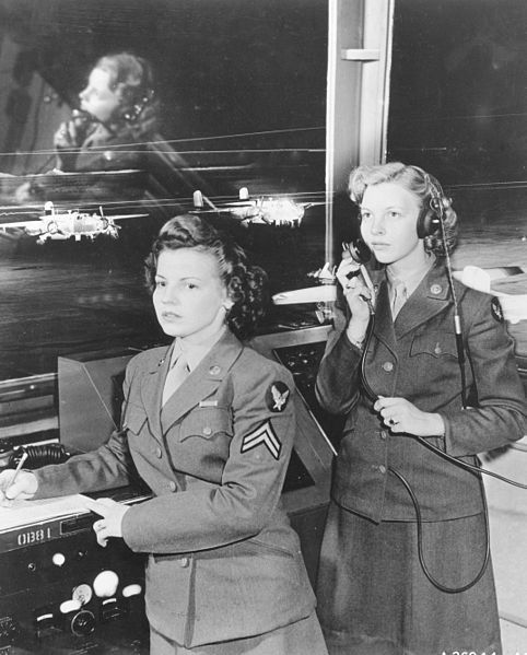 Two members of Women's Army Corps, Randolph Field, Texas, 1944.