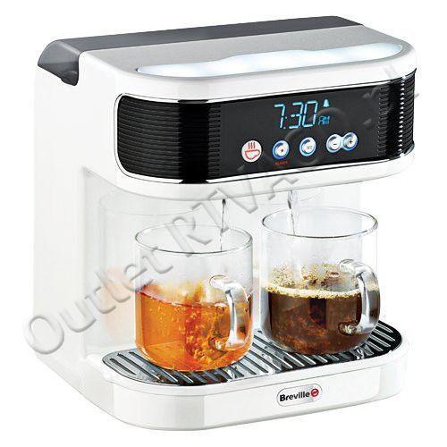 Dystrybutor gorącej wody BREVILLE Wake Cup Hot VCF042 / 700 ml / cyfrowy budzik / podwójny dozownik   AGD DO KUCHNI \ CZAJNIKI AGD DO KUCHNI \ DYSTRYBUTORY DO PIWA I NAPOJÓW   OutletRTVAGD.pl Markowy sprzęt w najlepszych cenach