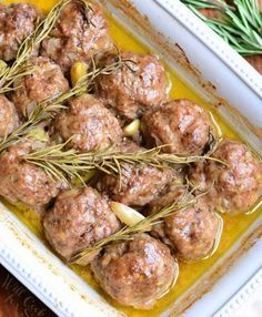Roasted Garlic Rosemary Baked Meatballs | 14 Meatball Recipes For Just About Any Occasion