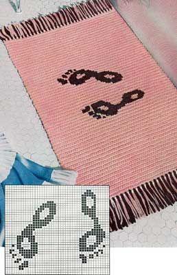 The Footprint Bath Mat | Free Crochet Patterns