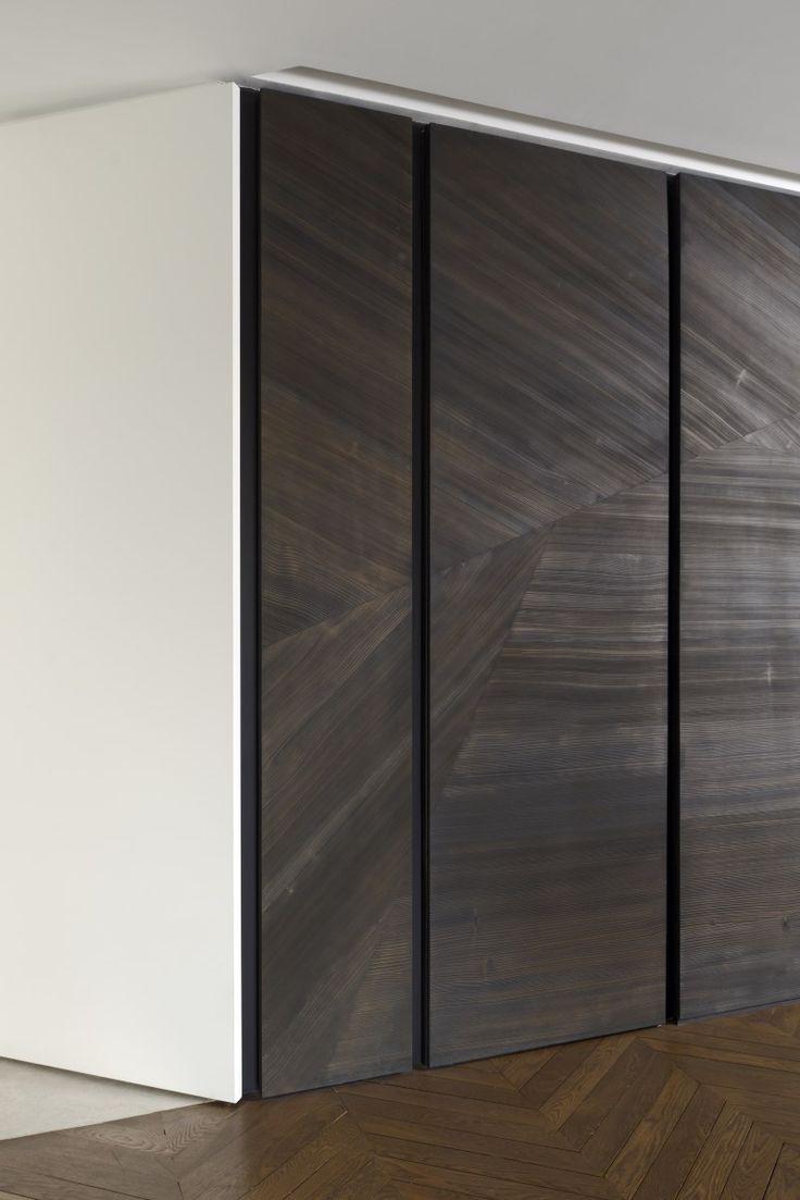 Wood veneer - Tristan Auer - private residence Trocadero Paris France