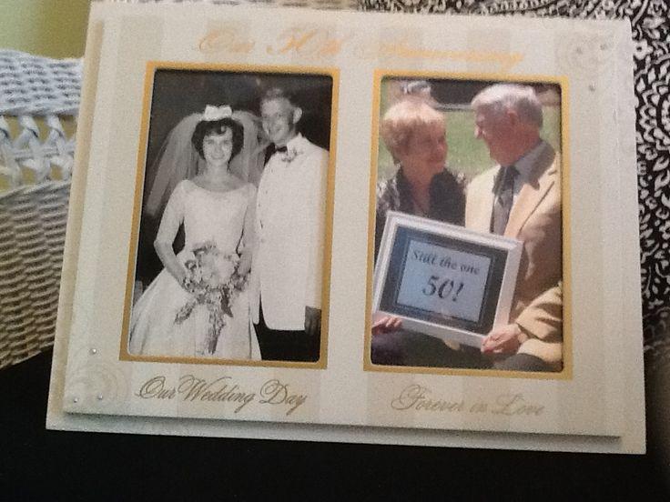 50th Wedding Gift Etiquette : 50th wedding anniversary photo frame 50th wedding Pinterest ...