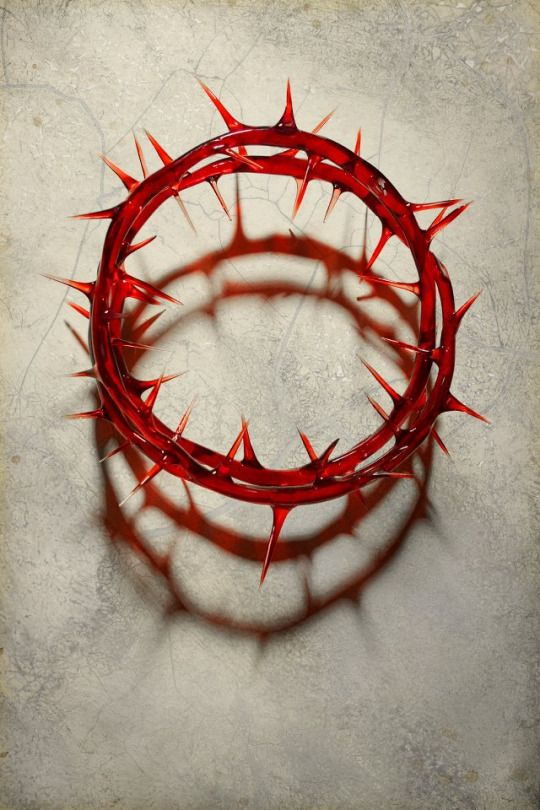 Crown of Thorns ~ Michael Hussar [red glass sculpture?]