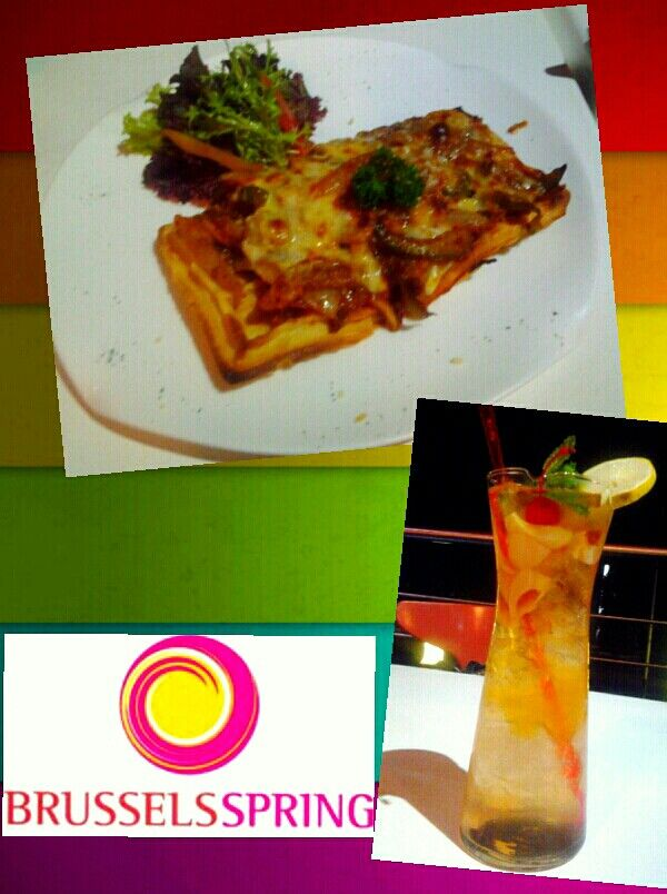 Margarita Cheese Waffle and Royal Lychee Jelly at Brussels Spring Belgian Chocoholic Delight, Setiabudi, Bandung