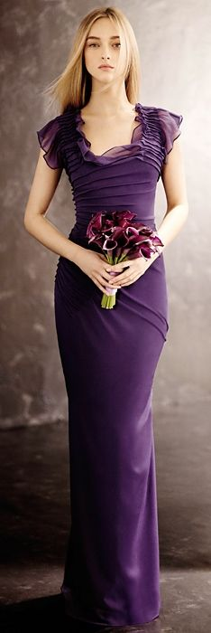 Vera Wang 2013 Dress Absolutely LOVE this dress! It's so feminine and purple I can't help but like it!