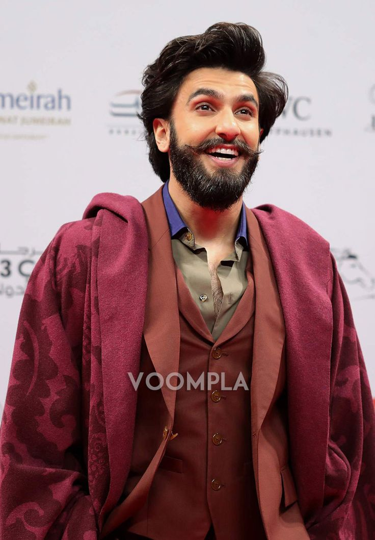 Candid shot of heartthrob Ranveer Singh looking all glam with his beard and moustache. Click Here >> Voompla.com