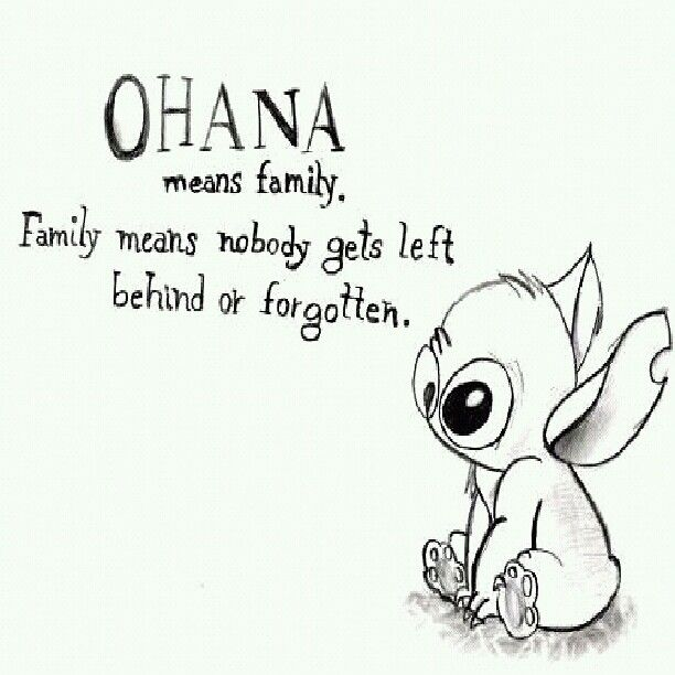 Ohana Means Family Quote Tattoo: Ohana Means Family. Family Means Nobody Gets Left Behind