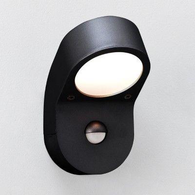 Soprano PIR Wall Light - Black - Lighting Direct