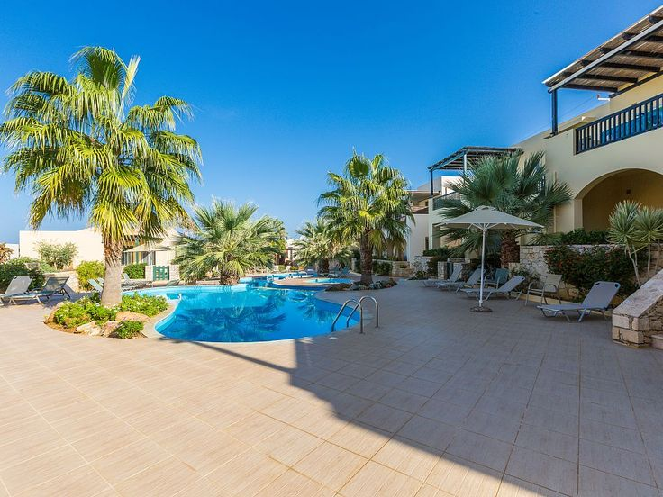 Rethymno apartment rental - The pool area is equipped with sun beds, umbrellas and an outdoor shower!