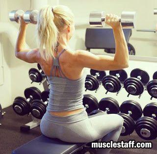 Musclestaff спортивное питание в Украине: Сексуальные плечи у женщин. Схемы упражнений.