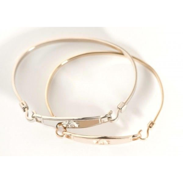 14k Bangle Yellow Gold Medical ID Bracelets