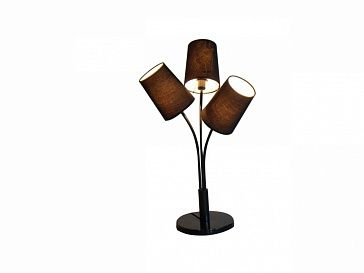 Настольная лампа Рекомендуемый тип ламп: 3хЕ14 (максимальная мощность 40 Вт). Лампы не включены в комплект