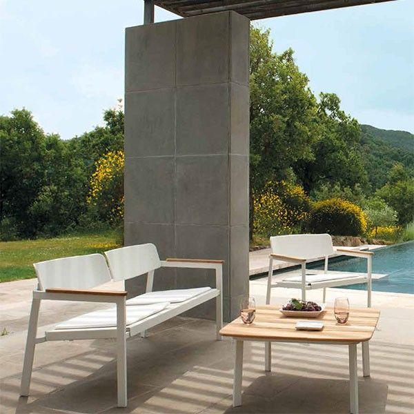 Beautiful Salon De Jardin Emu #4: Salon De Jardin Shine (1 Canapé + 1 Table Basse + 2 Chauffeuses)