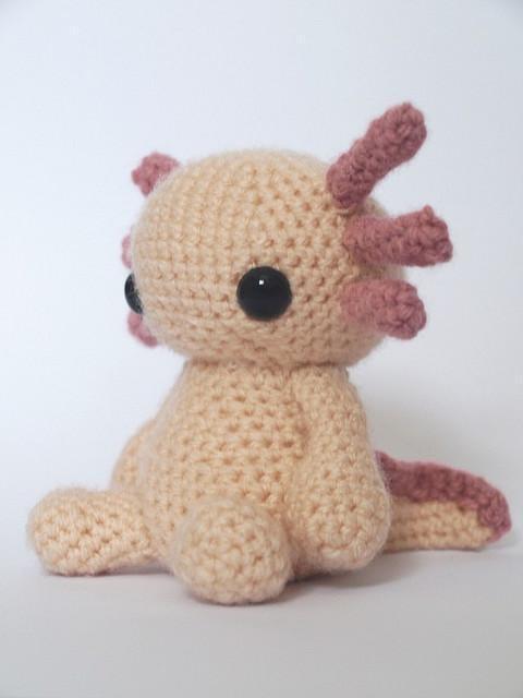 Axolotl - Amigurumi Crochet Toy: Kind Patterns,  Teddy Bears, Crochet Toys, Crochet Axolotl, Crochet Amigurumi, Crochet Patterns, Adorable Axolotl, Amigurumi Ideas, Axolotl Crochet