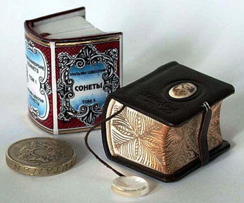 Miniature books by Guinness Record artist Anatoly Konenko